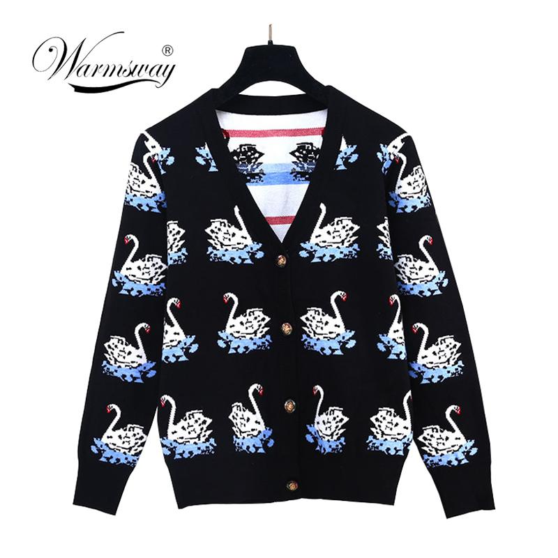 2018 new Fall Winter fashion ladies cardigan sweater knit jacket Celebrity female coat C-272