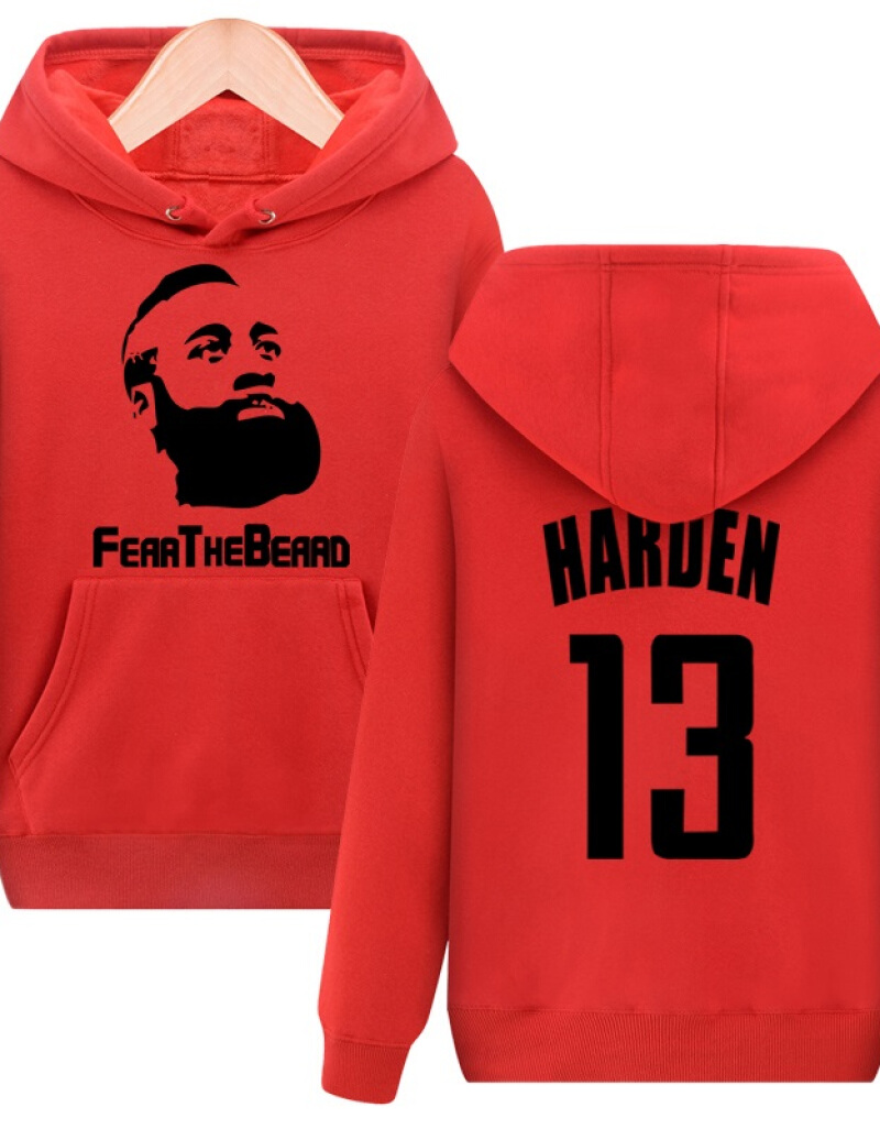 13 James Harden Cashmere Men Hoodie Sweater Sports Casual Clothes Zipper Bearded