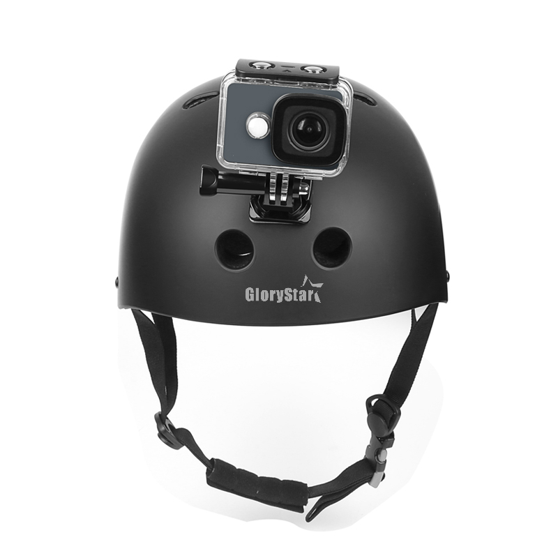 Action Camera Accessories Set GoPro Hero 5 6 3 4 Xiaomi Yi 4K SJCAM SJ4000 H9 Fascia toracica Base casco Go Pro Kit