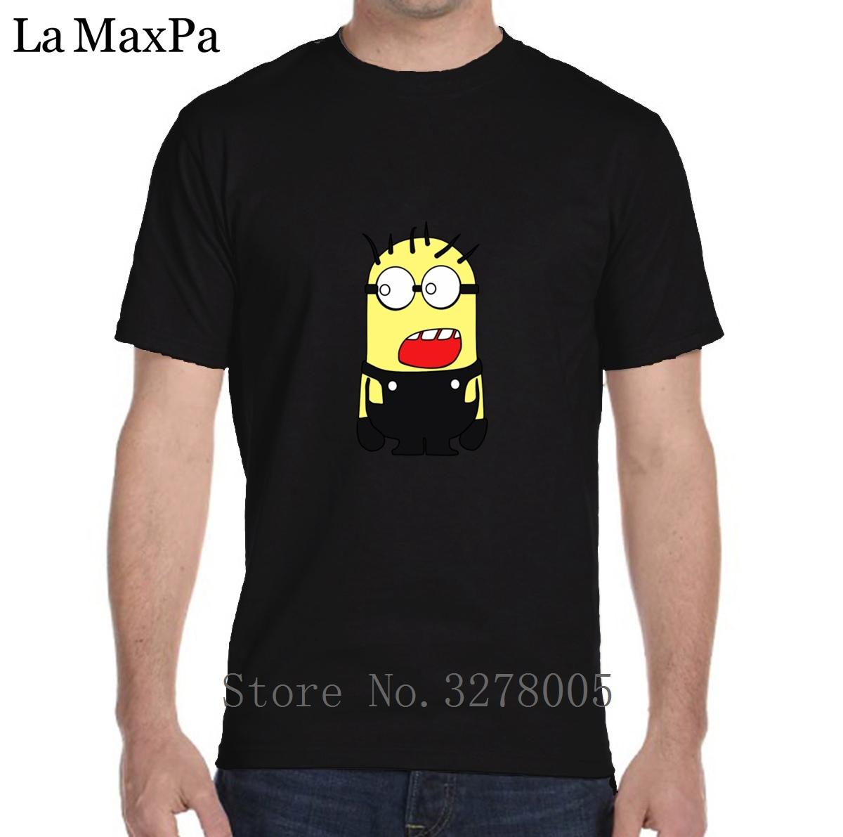 Designing T-Shirt Classic Minion T Shirt Men Letter Short Sleeve Cotton Men's Tshirt Sunlight O Neck Tee Shirt Homme Crazy