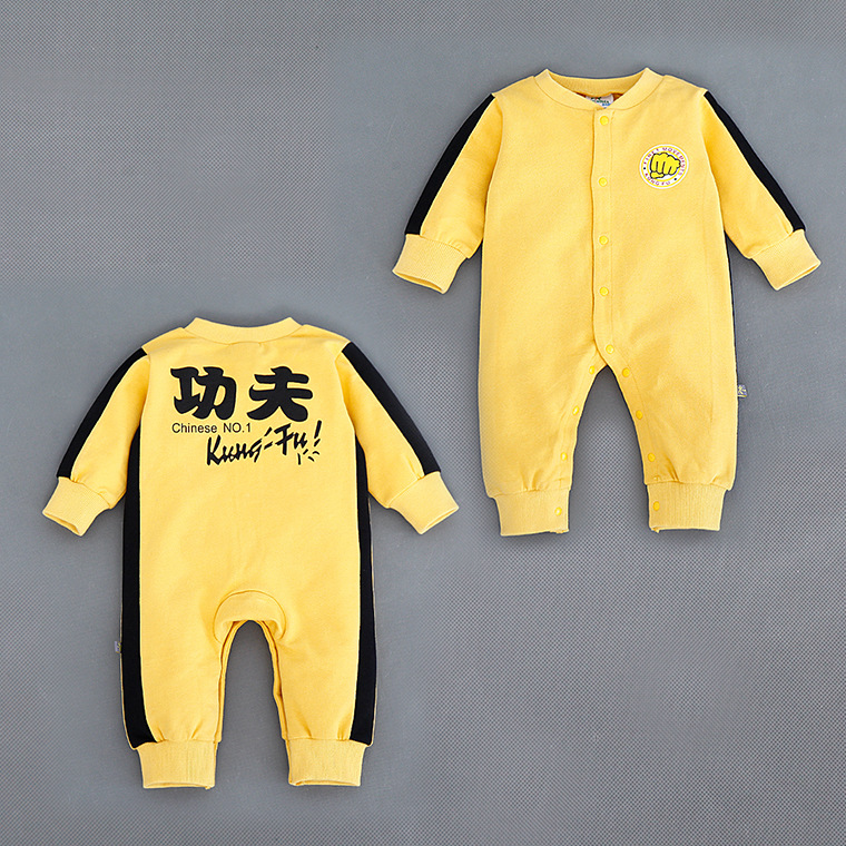 Baby Boy Bruce Lee KungFu Romper Jumpsuit Costume Kids Clothes Sport Spring Hot