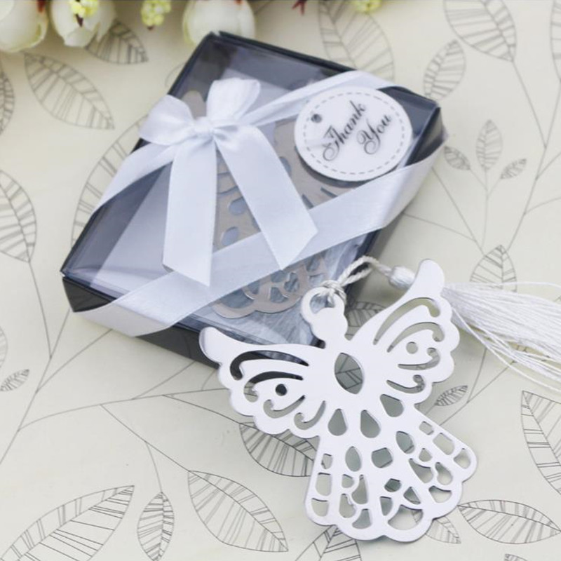 Free-Shipping-40pcs-lot-Metal-Bookmark-Angel-Silver-For-Baptism-Baby-Shower-Souvenirs-Wedding-Favors-and (1)