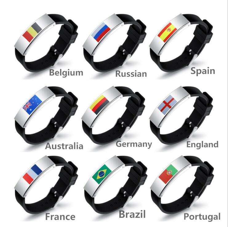 Bracelets de drapeau de Match de football pour les fans de football Allemagne