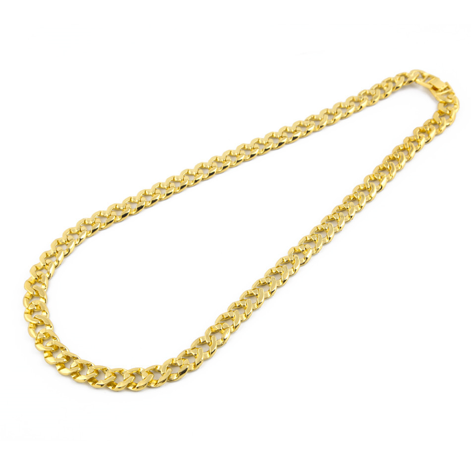 UWIN Iced Out Bling Rhinestone Crystal Goldgen Finish Miami Cuban Link Chain Men's Hip hop Necklace Jewelry 20, 24, 30 ,36 Inch C18111301