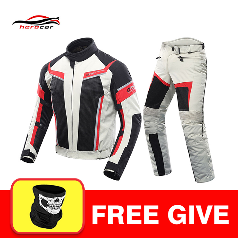 Waterproof Motorcycle Jackets /& Pants Breathable Clothing Summer-Spring Suit