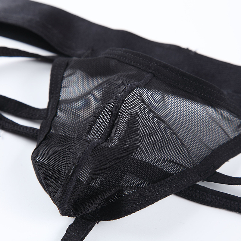 Gay Men Underwear Jockstrap Mens Tangas Y G Strings PU Leather Sexy Underwear Men Erotic Pene hombres Tangas String Homme
