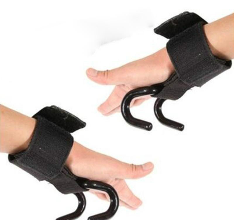 Weight Lifting Wrist Support Strong Training Gym Hook Grip Strap Wrist Support Glove Practical Adjustable Wrist Stripe