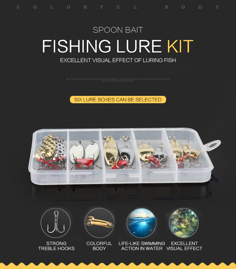 Fishing Lure 30pcslot 3g-7g MinnowPopper Spinner Spoon Metal Lure Iscas Artificial Bait Fishing Lure Kit Isca Artificial