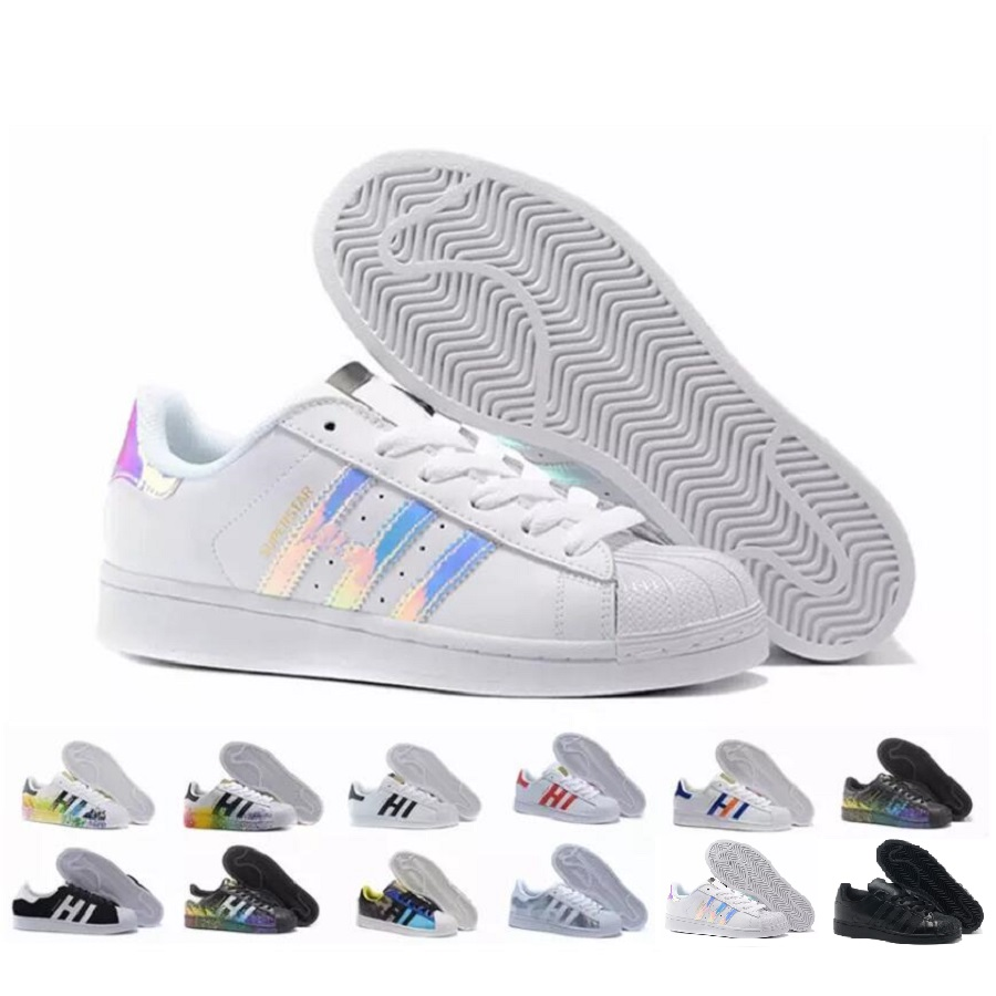 2016 Adidas originals Superstar shelltoe laser men's and women's sports low  basketball casual shoes