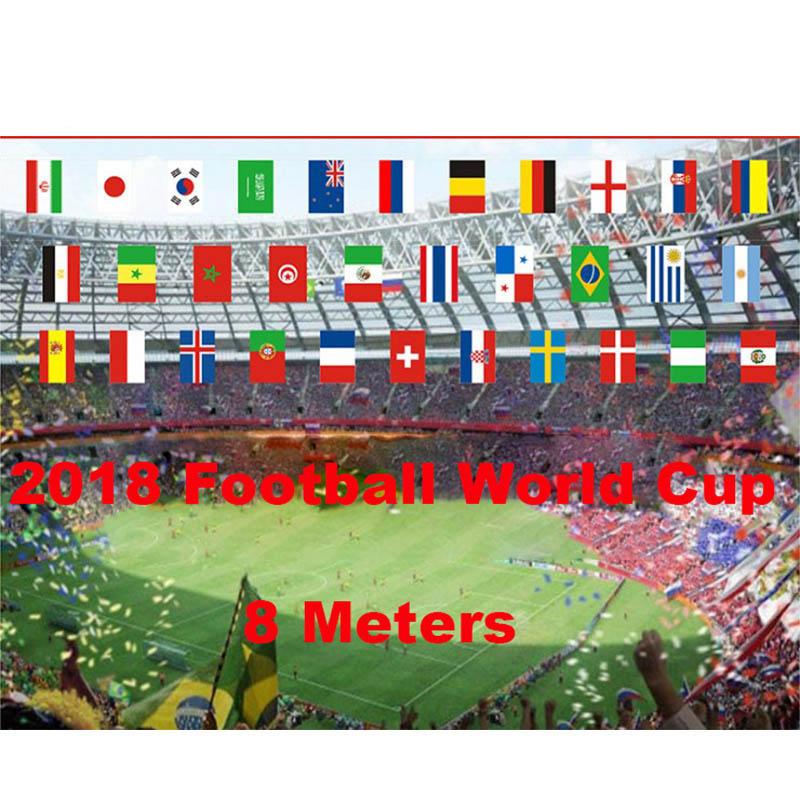 Le Brésil Bunting Drapeaux 7 mètres 25 drapeaux Jeux Olympiques coupe du monde football Carnaval