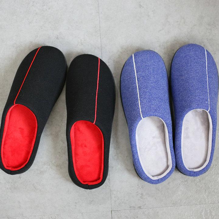 High Quality Velvet With Soft Fleece Outside Comfortable Soft Sole Men Memory Foam Home Slipper Men Shoes (15)