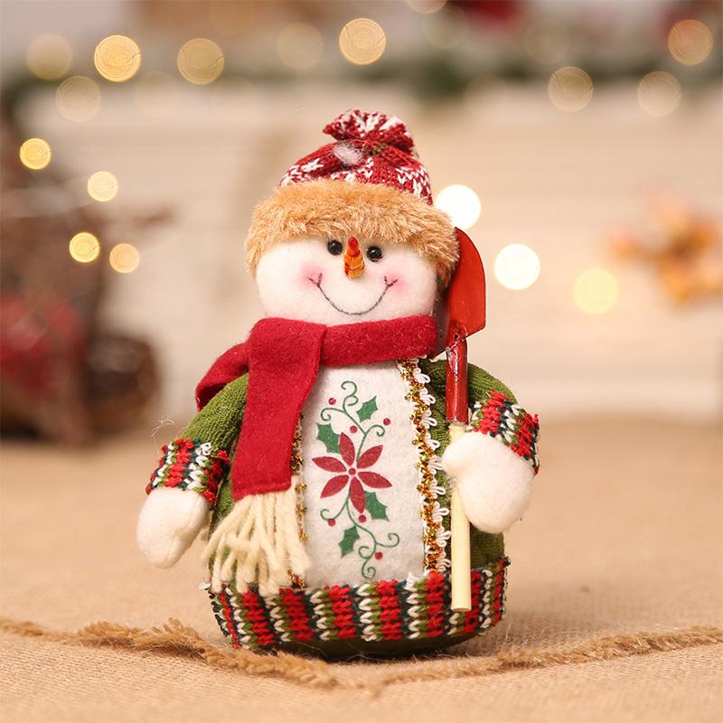 Christmas snowman ornaments Christmas Decorations for Home New Year scarf doll Santa Claus Desktop Decorations Navidad Natal (7)