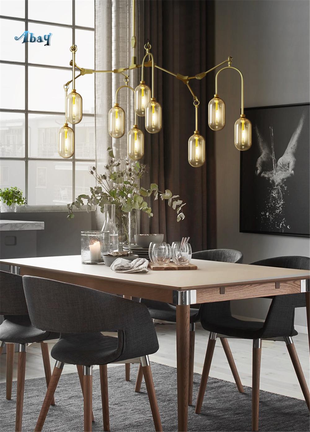 Großhandel Nordic Art Deco Capsule Branches Shape Kronleuchter Beleuchtung  Für Wohnzimmer Hall Lampen Für Esszimmer Led Hanging Chandelier Von ...