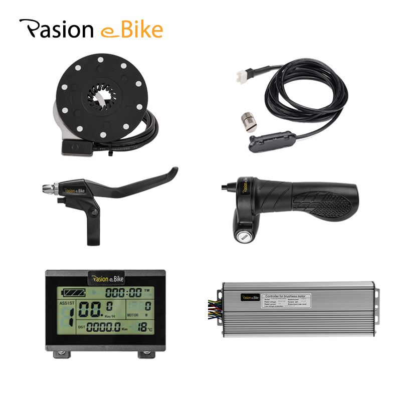 Twist Throttle 45A Sine Wave Controller Brake Lever+PAS For 48V 1500W BLDC Motor LCD Control Panel