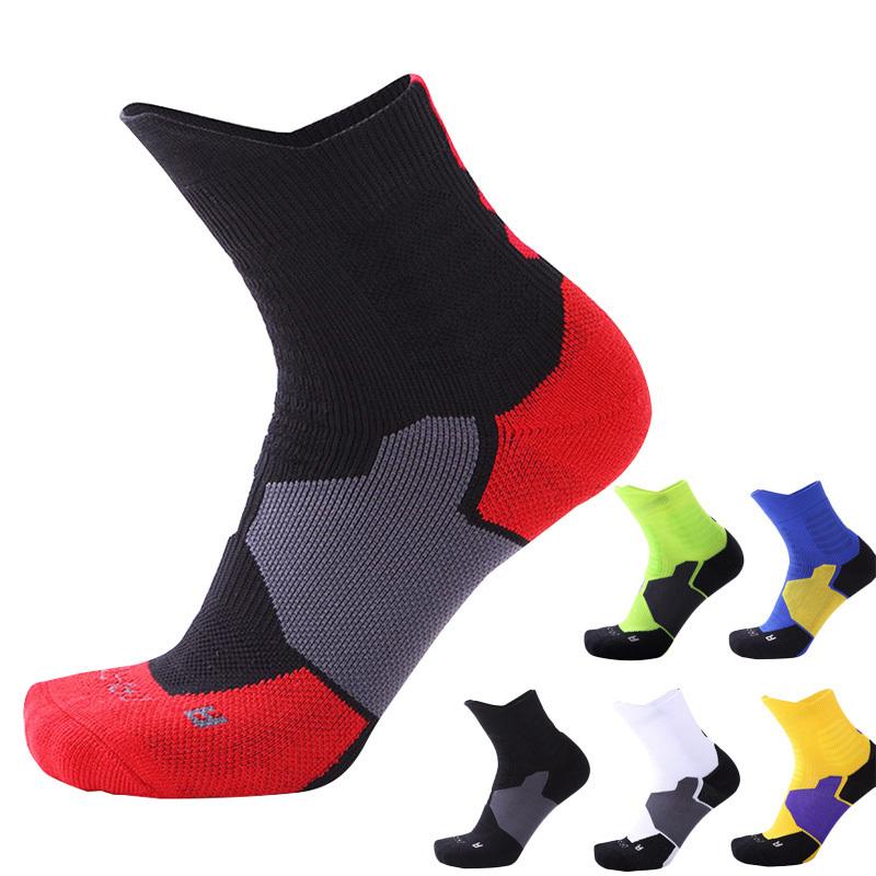 Unisexe Anti-sueur respirant Chaussettes Outdoor Chaussettes De Course Sports Basketball Socks