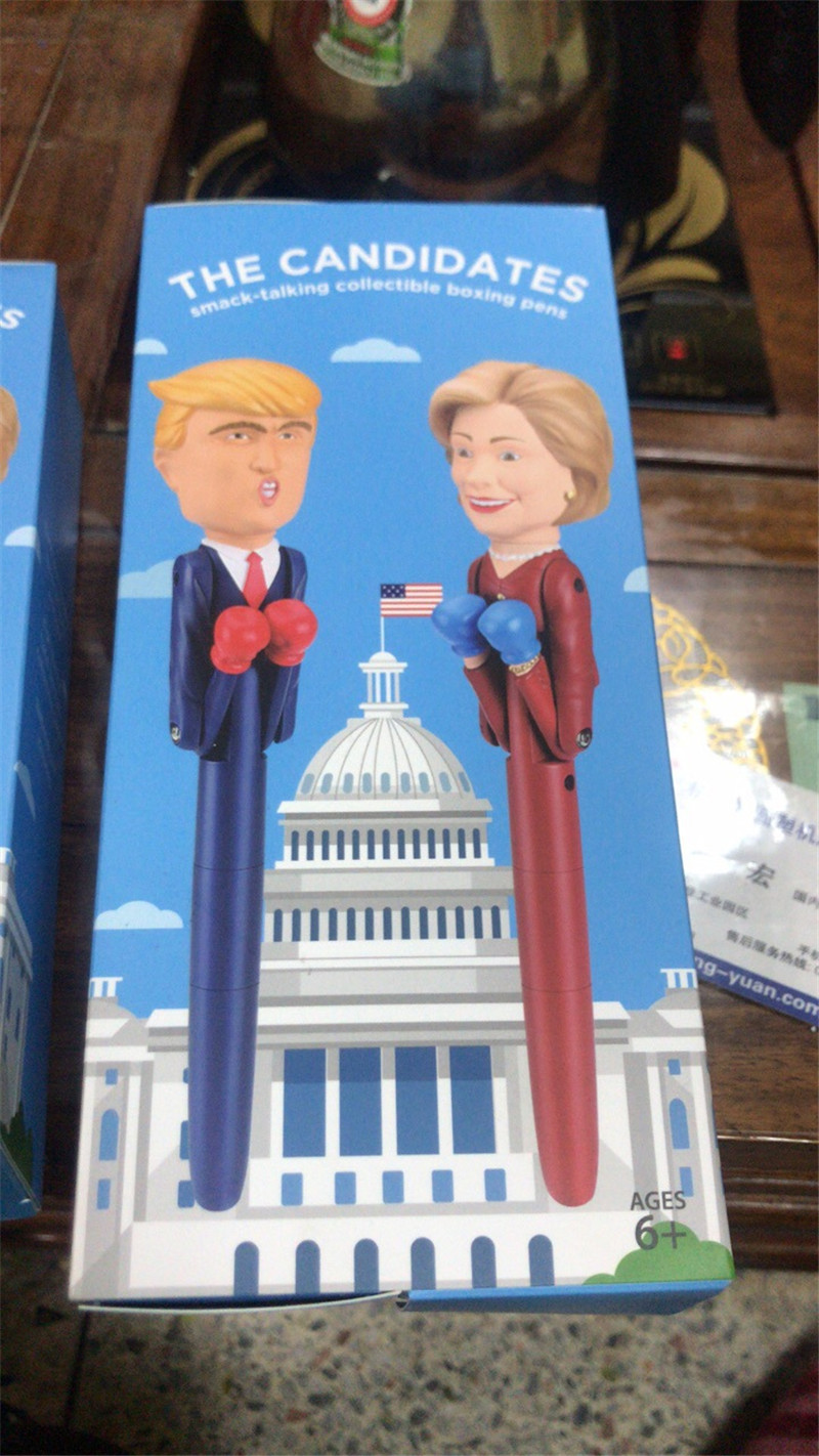 2018 The Candidate Trump Decompression Pen Boxing New Design President Pens America Great USA Intelligent Toys Pen Fancy Gift Birthday Gift