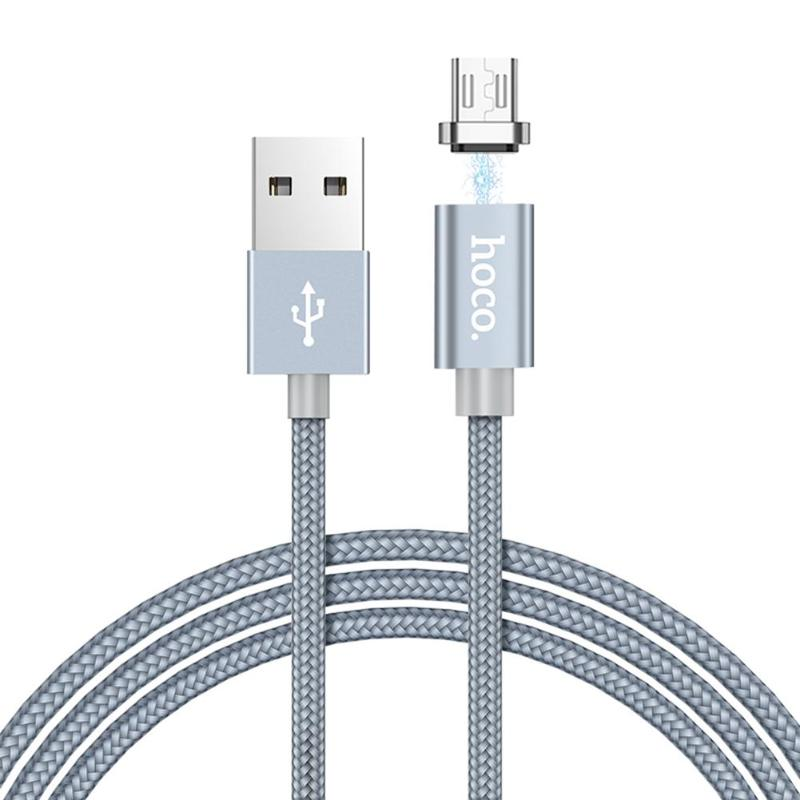 wholesale U40A 1m Braided Nylon Magnetic USB Fast Charging Data Sync Charger Cable for Android Phones Fast Charging Data Cable Wire