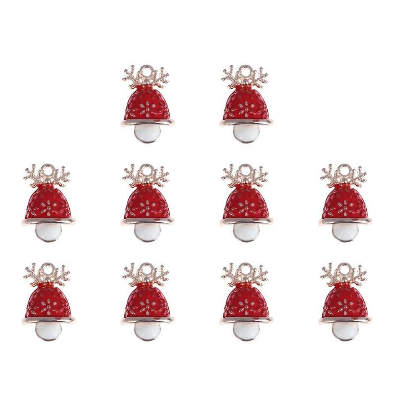Cute Mini Christmas Decoration Pendant Ornaments DIY Craft Metal Charms For Clothes Jewelry Christmas Decoration For Home Y18102909