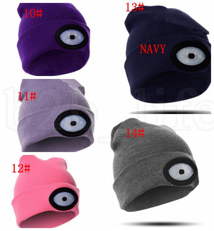 LED Beanie Cap 6 LED Rechargeable Lighted Hat LED Head Light Flashlight For Outdoor Fishing Camping hat KKA5924