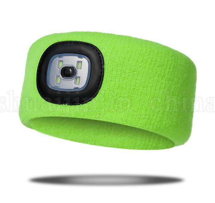 LED Clignotant Bandeau Wrap Lumière Tricotée Pour La Chasse En Plein Air Phare De Pêche Bandeau Parti Favoriser la conception de la batterie KKA6068