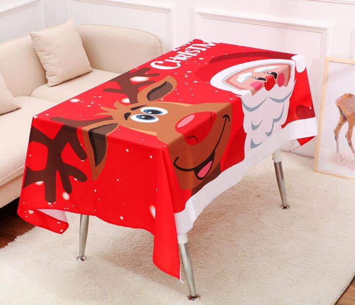 Printed Home Deco Naruto Tablecloth Cotton Linen Table Cover For Hot Sale