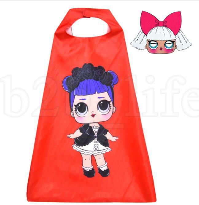 enfants masque masque ensemble poupée cosplay fille de bande dessinée masque masque enfants costume de halloween pour les enfants KKA5971