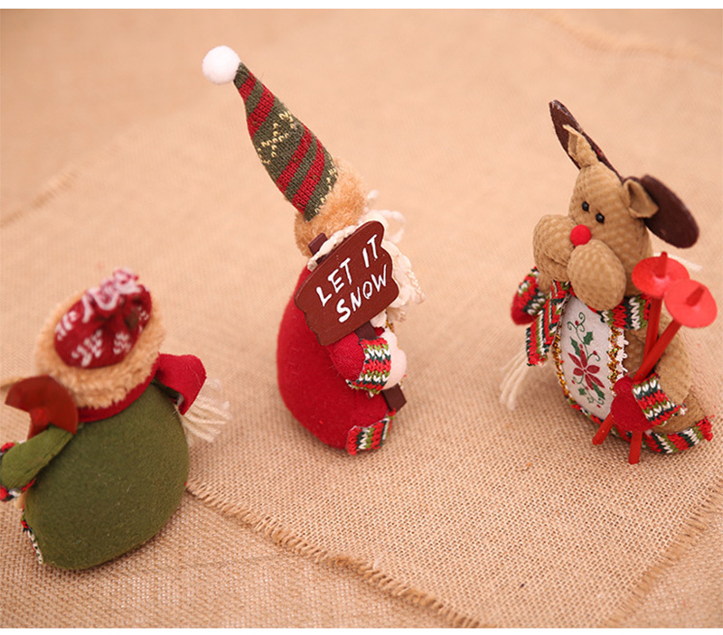 Christmas snowman ornaments Christmas Decorations for Home New Year scarf doll Santa Claus Desktop Decorations Navidad Natal (13)