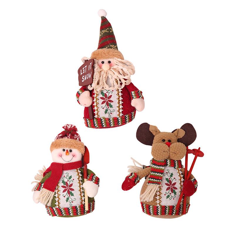 Christmas snowman ornaments Christmas Decorations for Home New Year scarf doll Santa Claus Desktop Decorations Navidad Natal (5)