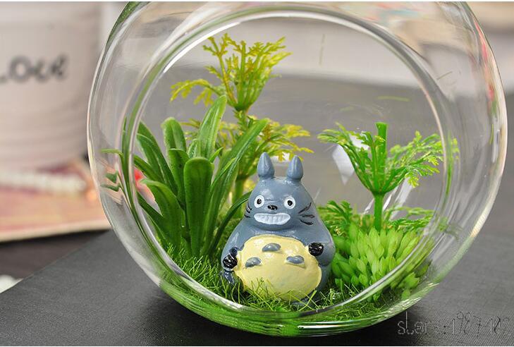 Decoración del hogar de la boda Bola transparente Forma de globo Claro florero de cristal colgante Plantas terrario Contenedor Micro Paisaje