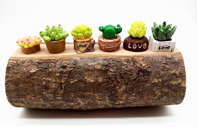 Künstliche Mini Plastik Miniatur Sukkulenten Pflanzen Wohnkultur Garten--Decor