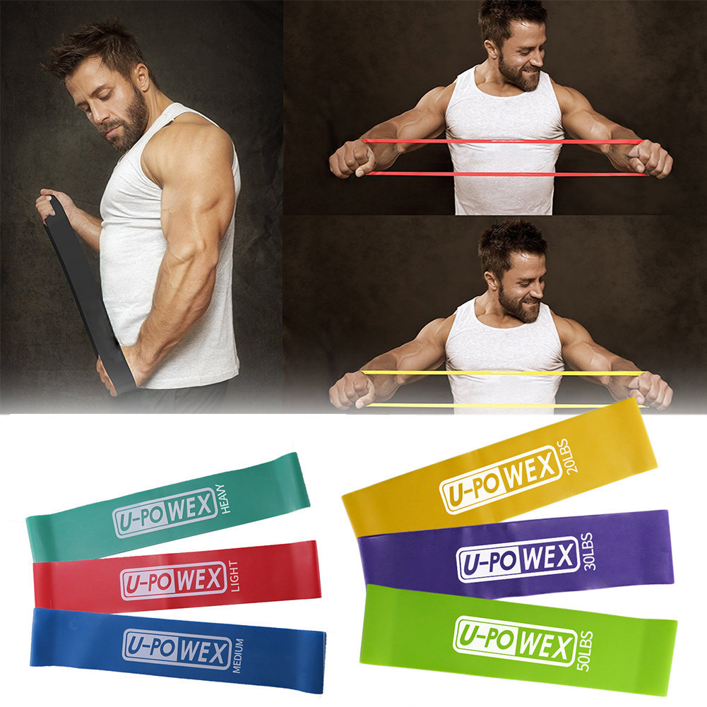 Natural Latex Crossfit Yoga Resistance Bands Fitness Equipment Loop Pilates Sport Training Workout Elastic Band Set