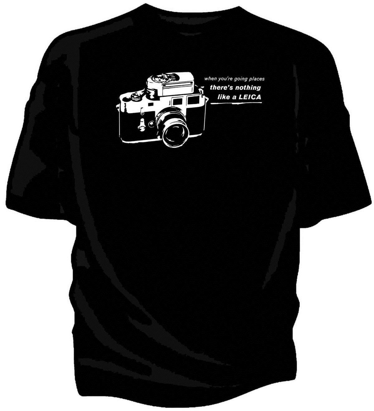 Leica T-shirt Classique Toutes Tailles # Noir
