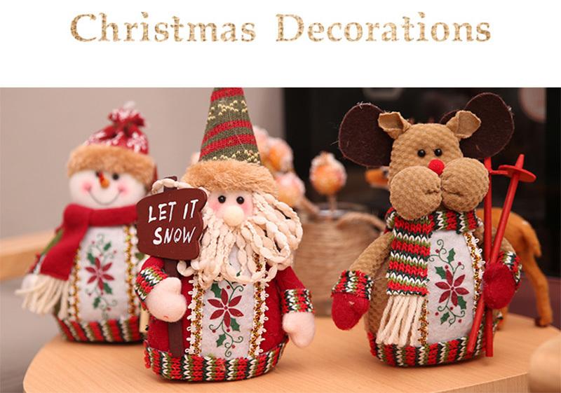 Christmas snowman ornaments Christmas Decorations for Home New Year scarf doll Santa Claus Desktop Decorations Navidad Natal (9)
