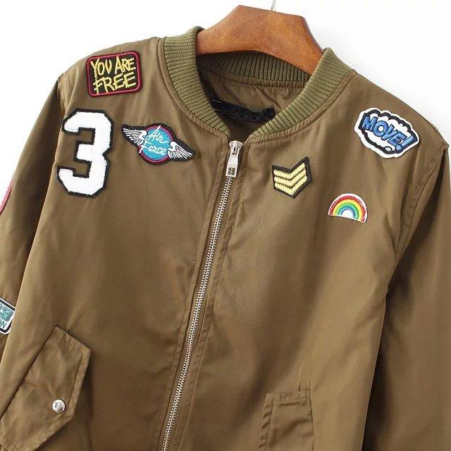 2018 New Vintage patch designs basic jacket coat Spring autumn street bomber jacket Women reversible baseball jackets sukajan