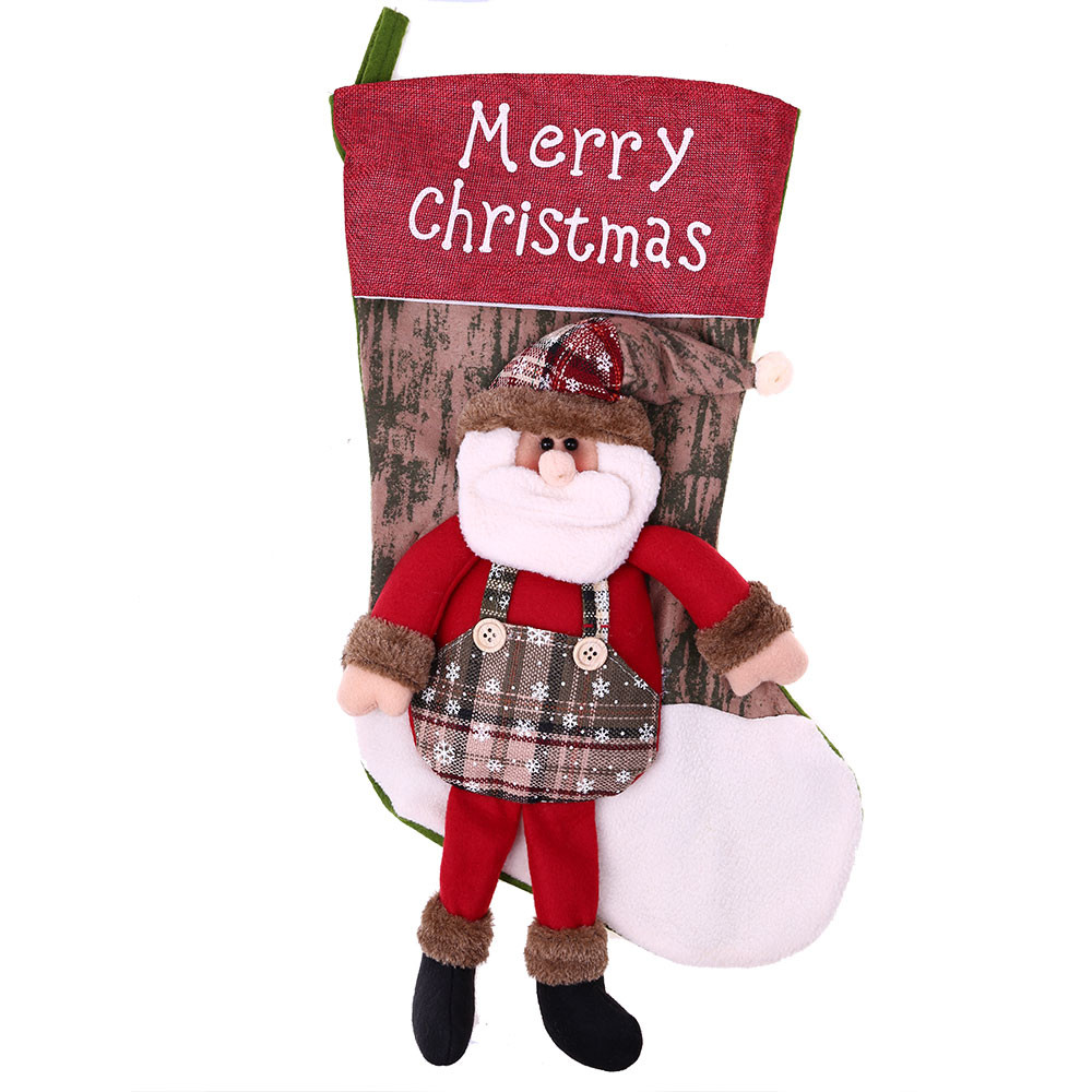 Large christmas stockings Ornaments Festival Party Xmas Tree Hanging Decoration christmas presents christmas gift bags