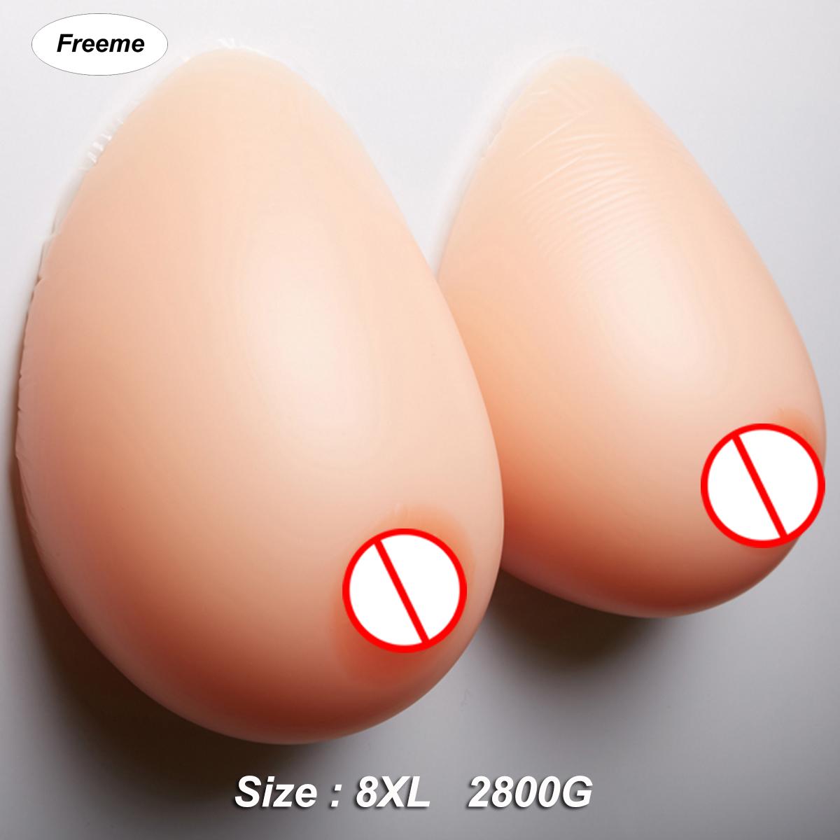 Jiyaru Silicone Breast Forms Prosthesis Boobs for Mastectomy Crossdresser 1 Pair Skin 9XL 3200g