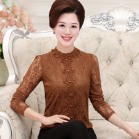 new-fashion-women-middle-age-women-lace-long-Puff-Sleeve-Stand-collar-shirt-female-Office-Lady.jpg_200x200