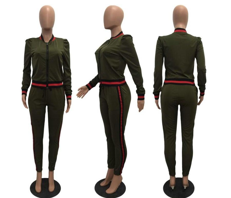 WAN XIANG YUAN Women Sportswear 2017 Autumn Long Sleeve Women 2 Piece Set Slim Pants Suits +Hooded Sets Women Suit 101706