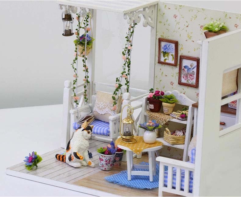 Mobili Per Casa Delle Bambole Fai Da Te : Acquista miniatura casa di bambola fai da te in legno miniature