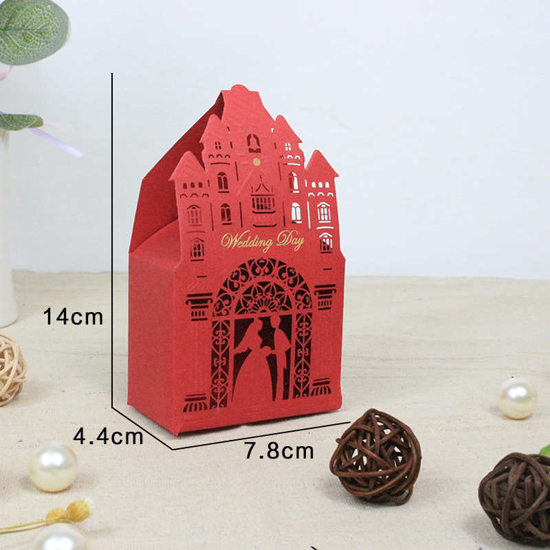wholesale 20pcs Hot Creative Wedding Favors Chocolate Paper Candy Box Candy Bag Baby Shower Gift Box Wedding Decoration craft DIY