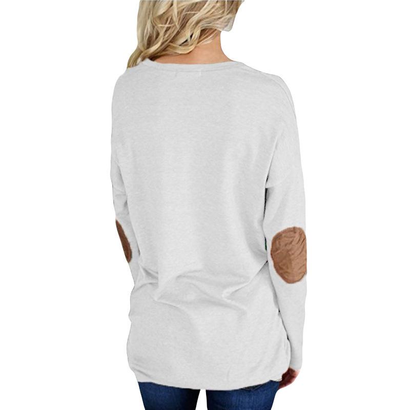 Mama Bärendruck Frauen T-shirt 2018 Frauen Neue Beiläufige Feste Langarm Lose Tops Harajuku Patchwork Shirt Tees Camisetas Mujer S18100901