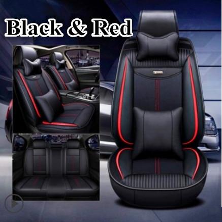 CAR SEAT COVERS fit Nissan Qashqai 2013 onwards Leatherette full set Black//Grey