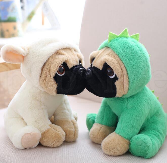 Köpek bebek peluş oyuncak şapka köpek simülasyon Dolması hayvanlar Oyuncaklar Çocuk hediye Için Sharpei Pug Peluş Hayvan Oyuncaklar 20 CM KKA6072