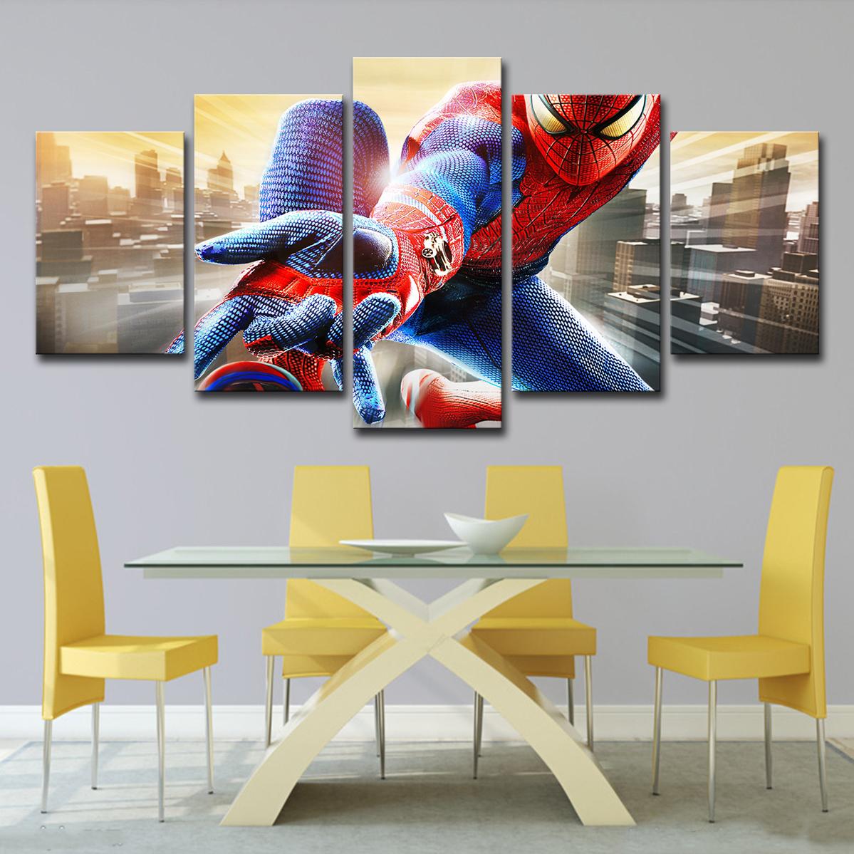 Marvel Spider-Man-Comics Super héros Movie Art 5 Split Panneau toile photo