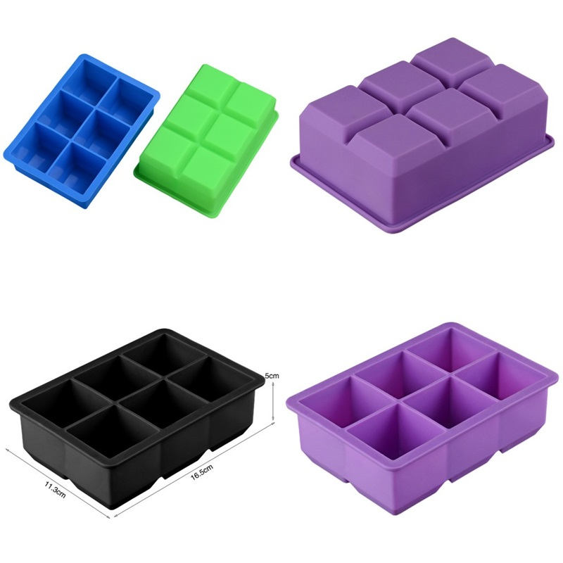 8 Cube Géant Jumbo Silicone Ice Square Tray Mold Maker Bar Moule Accessoires