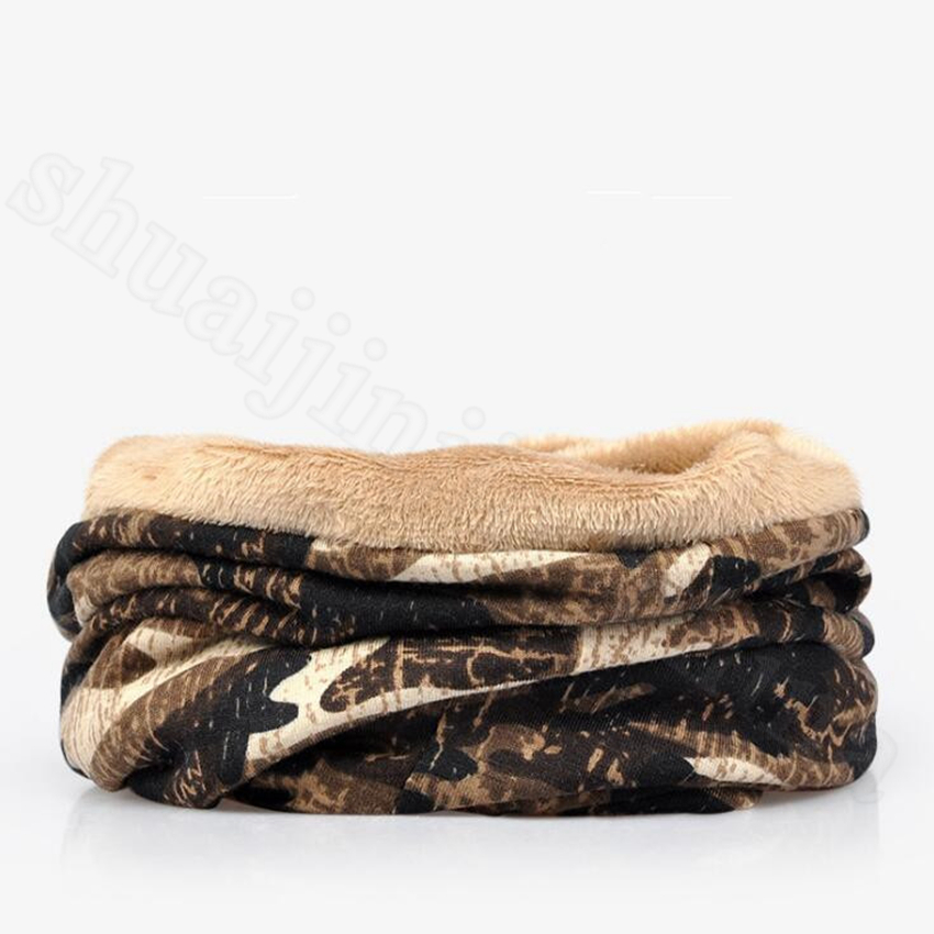 Camouflage Beanies 2 in 1 Camo Knitted Hat Scarf Male Cap Summer Winter Outdoor Windproof Warm Sleeve Girls Cap OOA5679