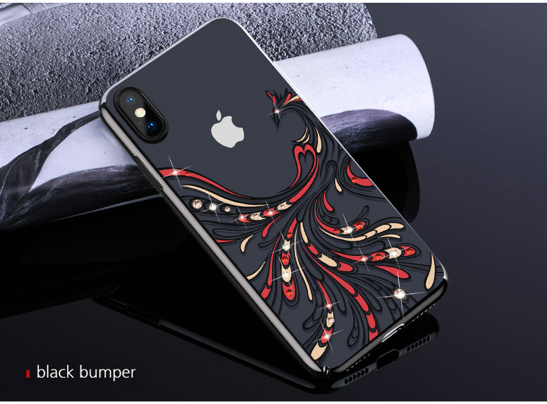 KINGXBAR Cover for iPhone Xs Cover Luxury Transparent Case for iPhone Xs Max Case Crystals from Swarovski for iPhoneXs Coque (14)