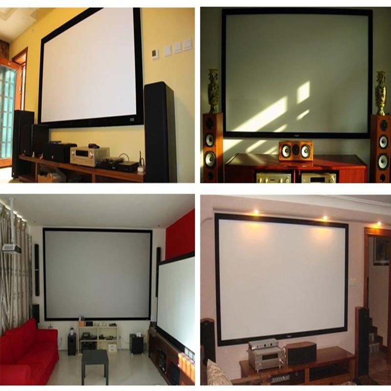 Pantalla de proyector de alta calidad para lienzo Pantalla de proyección de 120 pulgadas 16: 9 para XGIMI H1 H2 H1S Z6 Z3 J3 M3 JMGO J6S E8 UC48 UC46 Projetor