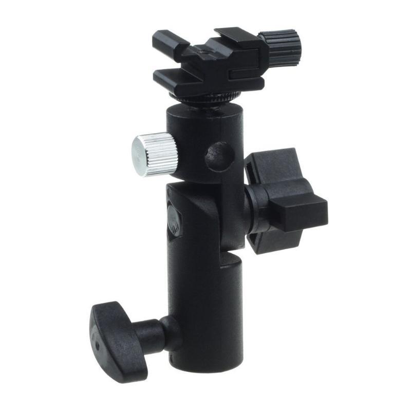 Großhandel Kamera Swivel Bracket Shoe Regenschirm Halter Flash Light Stand Adapter Halter Fotostudio Zubehör