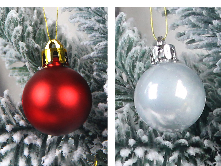 09 inhoo 49pcs Christmas Tree Ornaments Polystyrene Plastic 3cm Decor Balls Baubles Xmas Party Hanging Ball for Home Gifts 2019